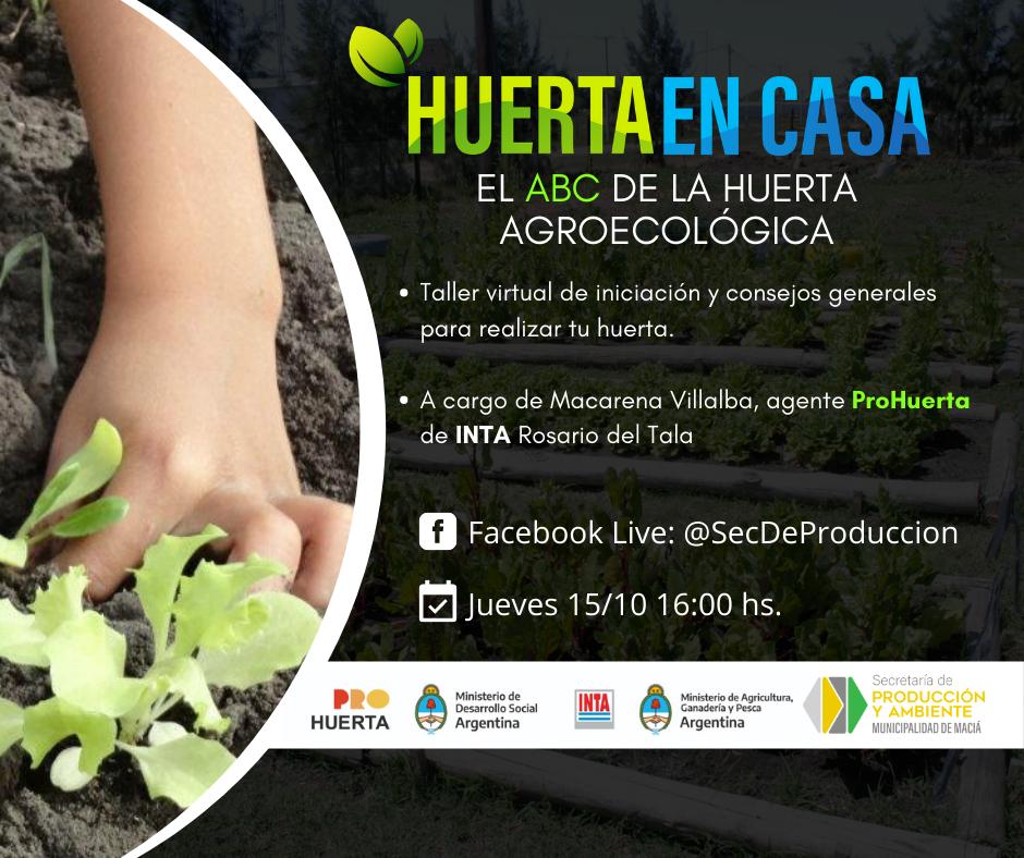 TALLER VIRTUAL: EL ABC DE LA HUERTA AGROECOLÓGICA