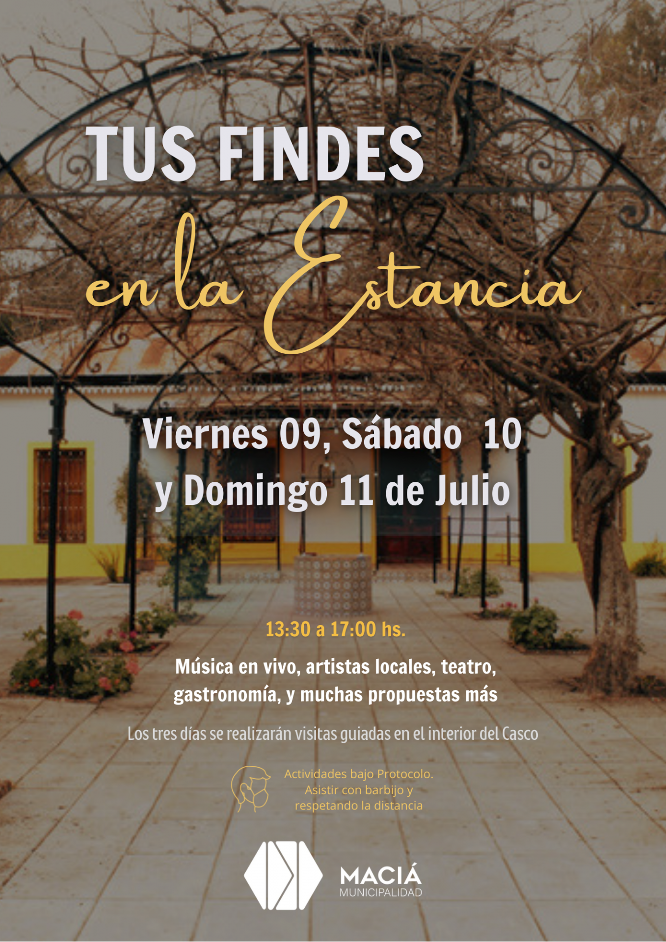 INVITAN A PASAR LOS FINDES DE JULIO EN LA ESTANCIA SAN EUSEBIO